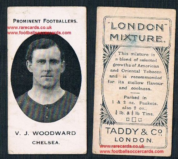 1914 Taddy 3rd series London Mixture tobacco legend Vivian Woodward Spurs GB England Chelsea